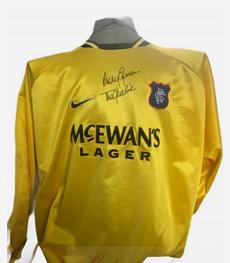 Andy Goram Autograph Rangers Goalkeeper shirt signed