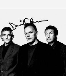 David Gilmour Autographed photo Pink Floyd 7×5″