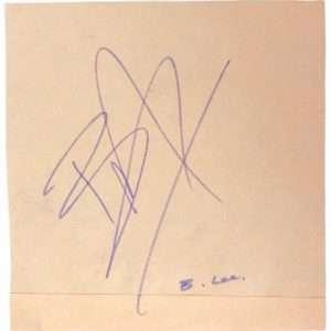 Brandon Lee Rare Autograph for sale The Crow legend