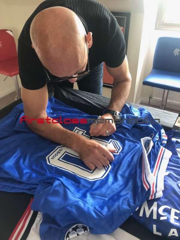 Mark Hateley Rangers autograph football shirt Champions League 96-97