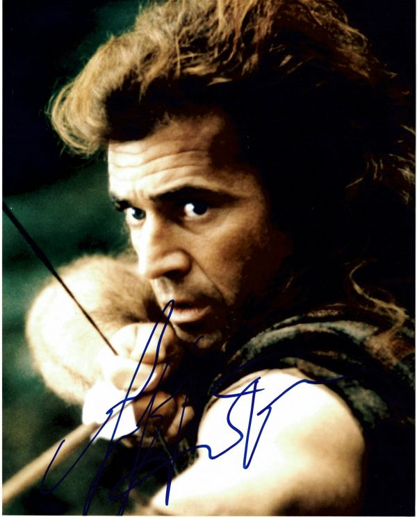 Mel Gibson signed Braveheart William Wallace 8x10