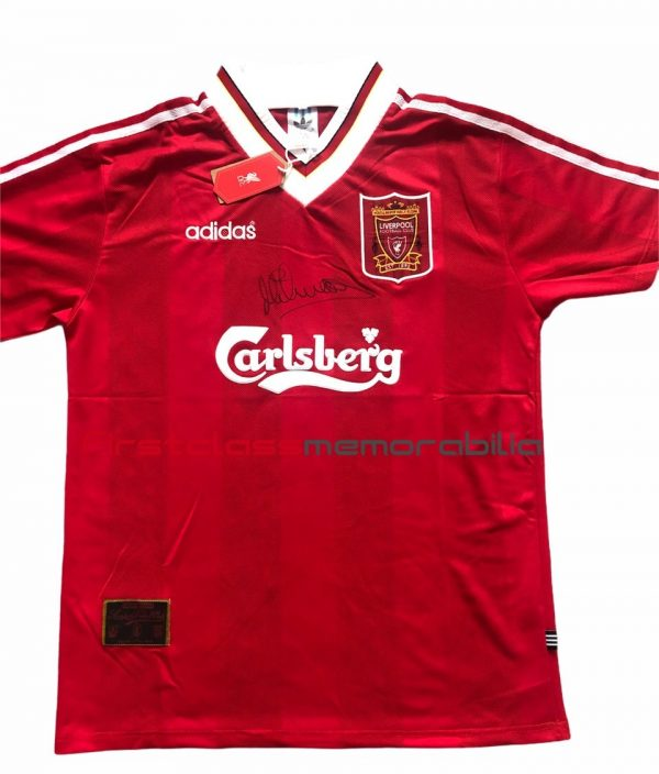 Michael Owen Autograph Liverpool 95 96 home shirt