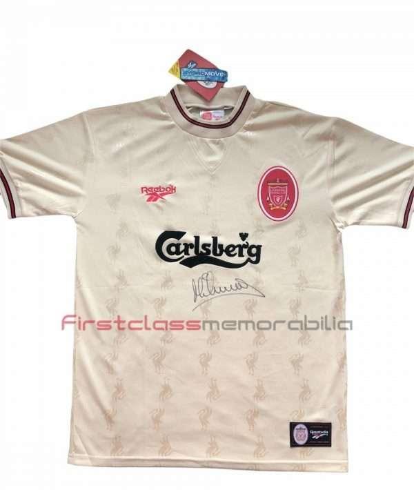 Michael Owen Autographed Liverpool 96 97 away shirt