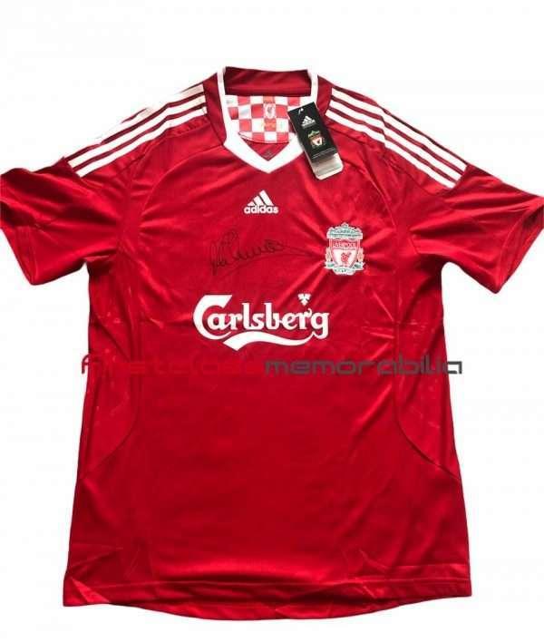 Michael Owen Liverpool shirt signed 09-10 home