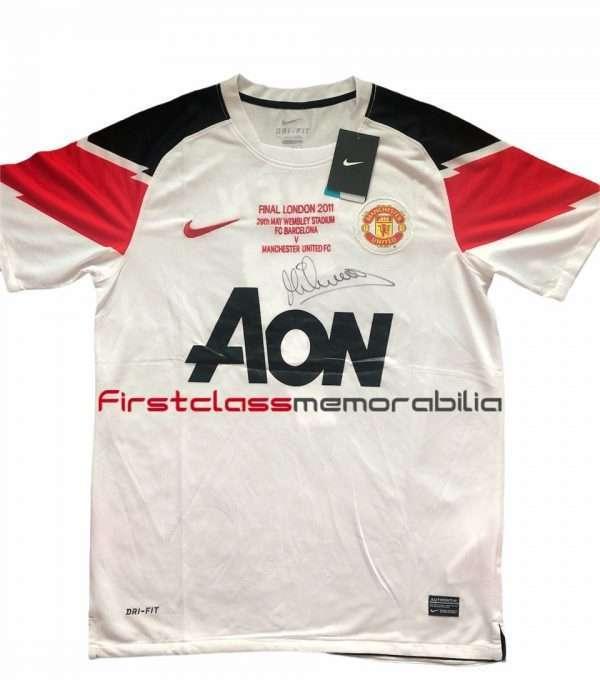 Michael Owen Signed Manchester United shirt 10-11 away