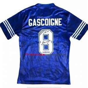 Paul Gascoigne signed Rangers football shirt Adidas