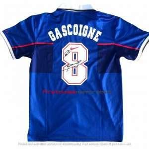 Paul Gascoigne Rangers autographed Nike football shirt