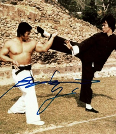 Bolo Yeung Autographed Enter The Dragon photo with Bruce Lee