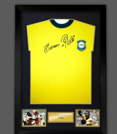Edson Pele Authentic Autograph Brazil Football Shirt