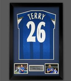 John Terry Hand Signed And Framed Chelsea Football Shirt