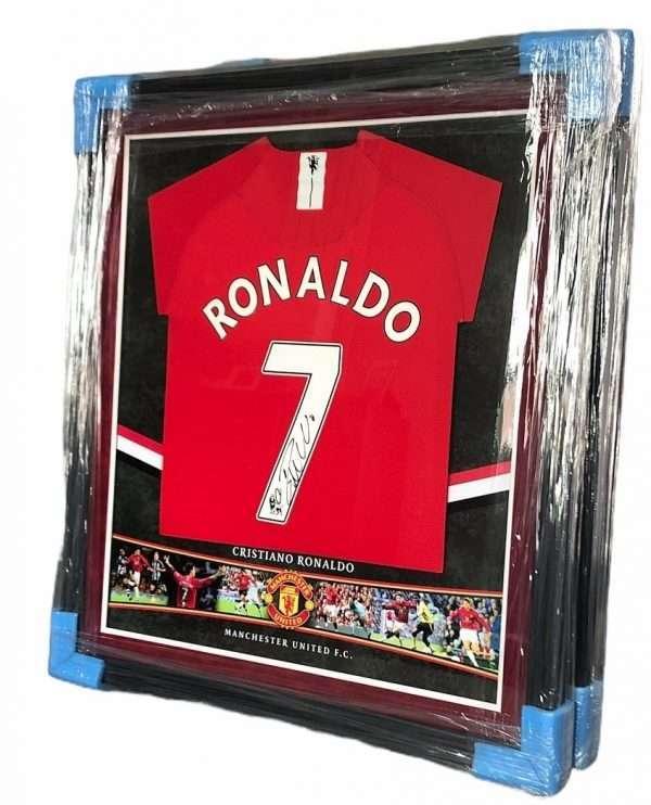 Cristiano Ronaldo Autographed Manchester United 2008 Football Shirt framed
