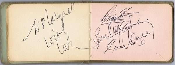 The Beatles Autographs John Lennon Paul McCartney Ringo Starr