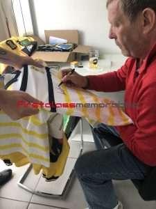 Andy Goram Signed Scotland football shirt The Goalie