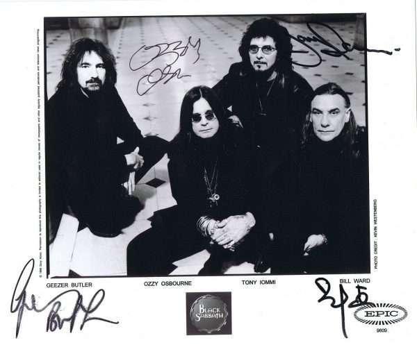 Black Sabbath Autograph Photo Ozzy Osbourne, Tony Iommi 8x10
