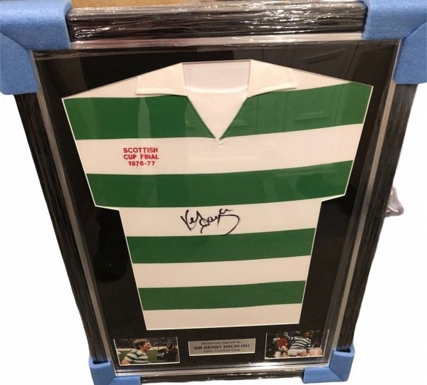 Kenny Dalglish Signed Celtic football shirt 1976 77 Cup Final