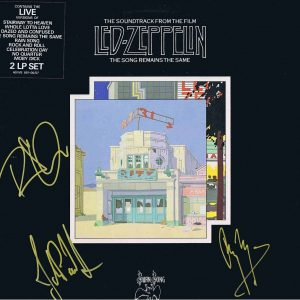 Led Zeppelin Autographed Album The Song Remains The Same Lp
