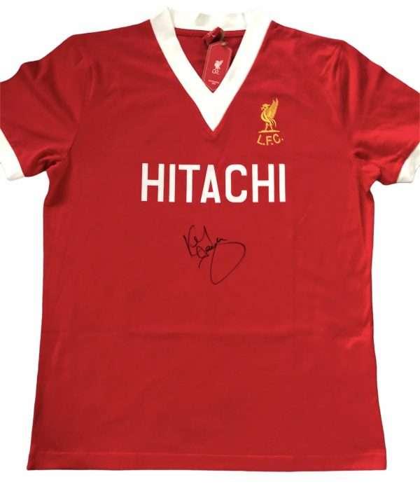 Kenny Dalglish Autographed Liverpool 78 retro shirt
