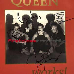 Queen Signed tour programme The Works Freddie Mercury
