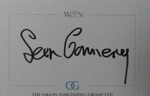Sean Connery autographed book