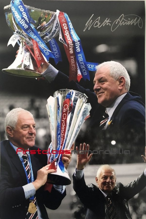 Walter Smith autographed Rangers photo