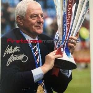Walter Smith signed Rangers photo