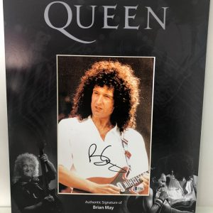 Brian May Autographed Photo Queen custom display 16x20