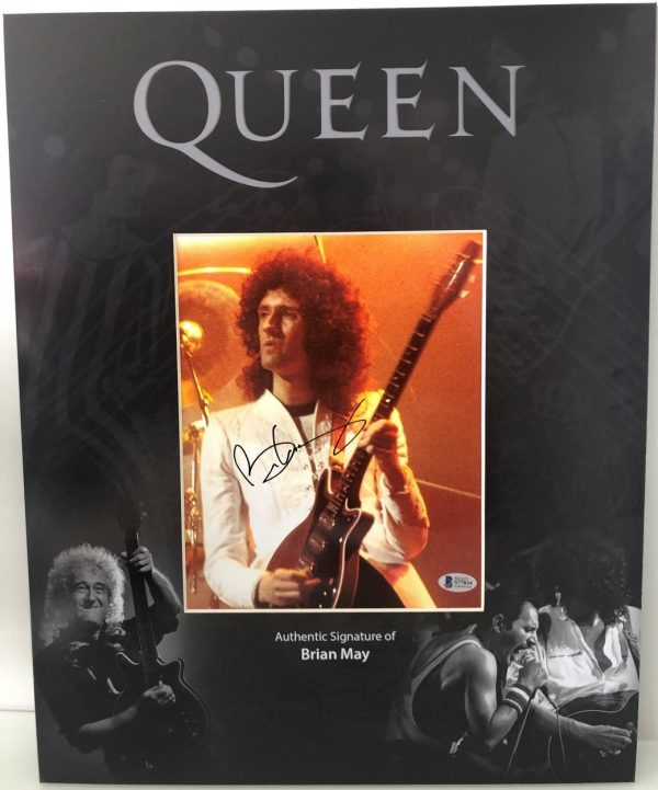 Brian May signed Photo Queen custom display 16x20