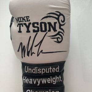 Mike Tyson signed Boxing Glove | Custom Made white glove
