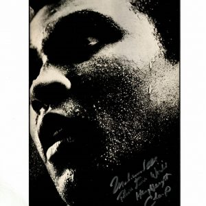 Muhammad Ali autograph for sale Lovely photo 3 times world champ