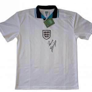 Paul Gascoigne England 1996 Football Club shirt signed