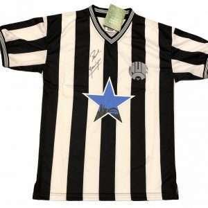 Paul Gascoigne Newcastle autographed football shirt