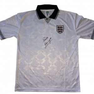 Paul Gascoigne Signed England Football Club shirt 1990 Gazza