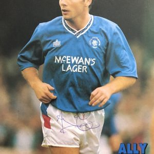 Ally McCoist signed Rangers FC magazine page A4