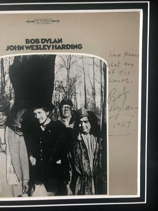 Bob Dylan Handwritten lyrics All Along The Watchtower signed