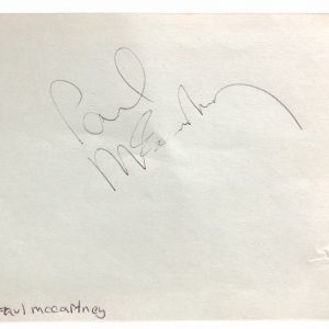 Paul McCartney Autograph The Beatles 60s signature