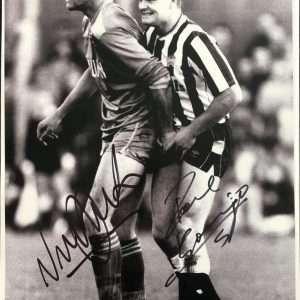 Paul Gascoigne Vinnie Jones Autographs signed photograph