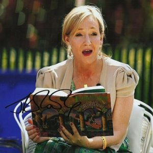 """JK Rowling Signed photograph 12x8"""" Harry Potter author"""
