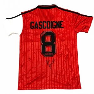 Paul Gascoigne signed Rangers 95 96 away shirt Gazza