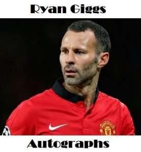 Ryan Giggs autographs