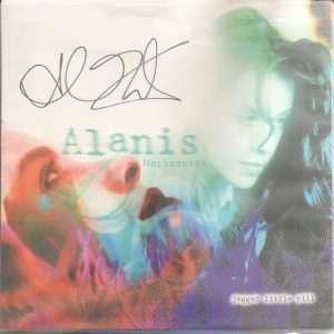 Alanis Morissette Autographed Jagged Little Pill Vinyl Album