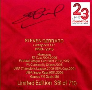 stevie g signed liverpool shirt memorabilia