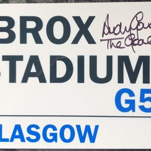 Andy Goram Rangers Autographs | Signed Ibrox Street sign