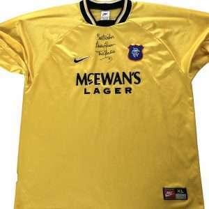 Andy Goram 97 98 Autograph Rangers Goalkeeper shirt signed