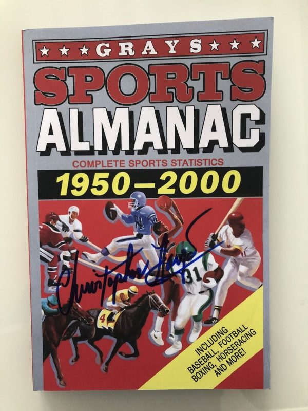 Christopher Lloyd Autographed Greys Sport Almanac BTTF