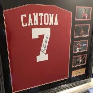 Eric Cantona Autographed Manchester United football shirt