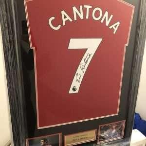 Eric Cantona signed Manchester United football shirt