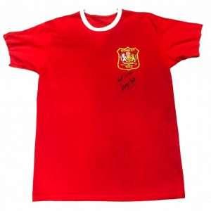George Best autographed Manchester united shirt 1963 Wembley