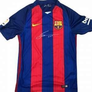 Lionel Messi signed original Barcelona football shirt 16-17 season