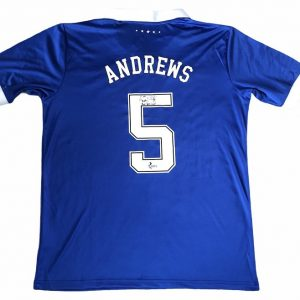 Marvin Andrews autographed football shirt rangers