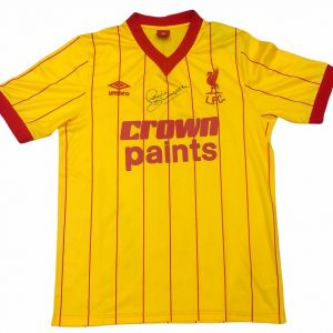 Phil Thompson signed 1982 Liverpool away football shirt